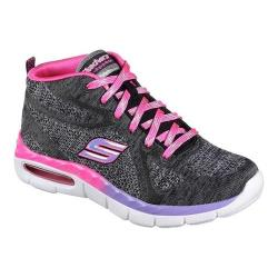 Girls' Skechers Air Appeal Breezin By High Top Trainer Black/Lavender/Pink
