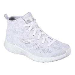Women's Skechers Burst Moon Dust High Top White/Silver