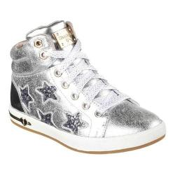 Girls' Skechers Shoutouts Starry Shine High Top Silver