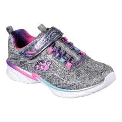 Girls' Skechers Swirly Girl Shimmer Time Slip-On Trainer Black/Multi