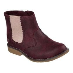 Girls' Skechers Uptown Shine Sisters Ankle Bootie Burgundy