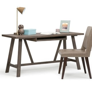 Stewart Home Office Desk in Driftwood Finish