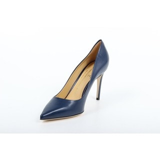 Versace 1969 V Italia Decollete Denim Blue Leather Pumps