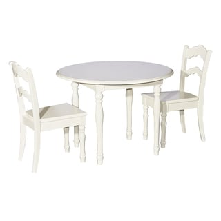 Kids White Table and 2 Chairs