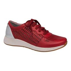 Women's Dansko Charlie Perforated Sneaker Red Leather