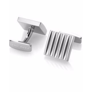 Hugo Boss Silver Stainless Steel Cuff Links