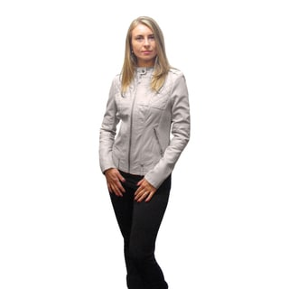 BCBGeneration Women's Stone Leather Jacket