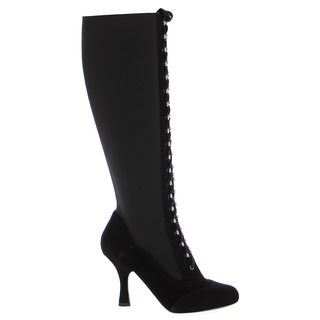 Dolce & Gabbana Black Suede Stretch Stiletto Boots