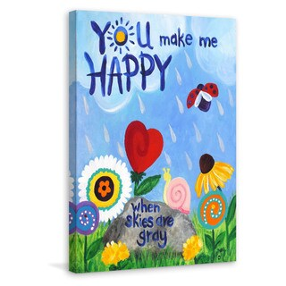 Marmont Hill - 'You Make Me Happy' by Nicola Joyner Painting Print on Wrapped Canvas