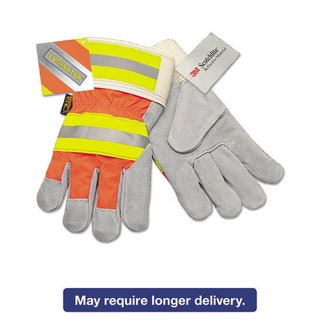Memphis Luminator Reflective Gloves, Orange HiVis Stripe, Lime/Silver, X-Large, Dozen