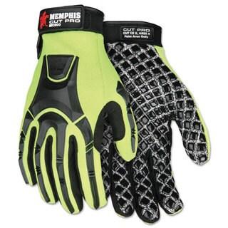 Memphis Cut Pro MC500 Gloves, High Vis Lime/Black, 2X-Large