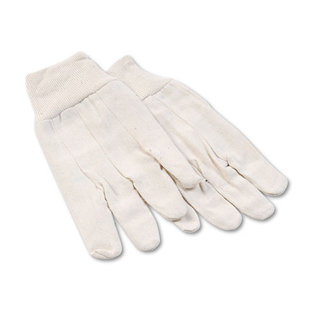 Boardwalk 8 oz Cotton Canvas Gloves, Large, 12 Pairs