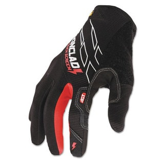 Ironclad Touchscreen Gloves, Black/Red, Medium