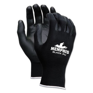 Memphis Economy PU Coated Work Gloves, Black, X-Large, 1 Dozen