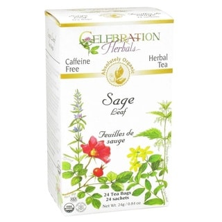 Celebration Herbal Sage Leaf Organic Teabags, 24-count