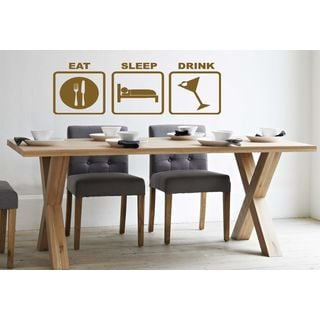 Eat Sleep Drink Kids Room Children Stylish Wall Art Sticker Decal size 22x35 Color Brown