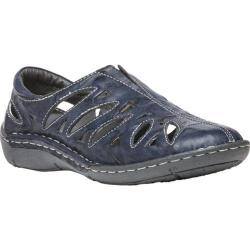 Women's Propet Cameo Slip On Shoe Navy Full Grain Sheep Leather
