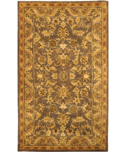 Safavieh Handmade Exquisite Blue/ Gold Wool Rug (3' x 5')
