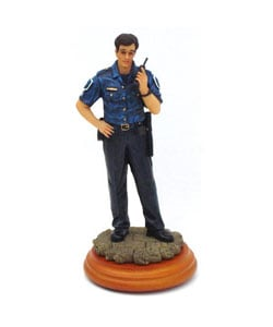 Hand-painted Hand-numbered Collectible Resin Policeman Figurine