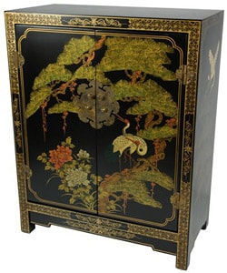 Wood Black Lacquer Cabinet (China)