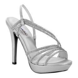 Women's Dyeables Dahlia Platform Sandal Silver Shimmer 23071638