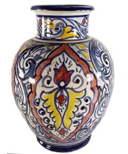 Casablanca Hand-made Ceramic Vase (Morocco)