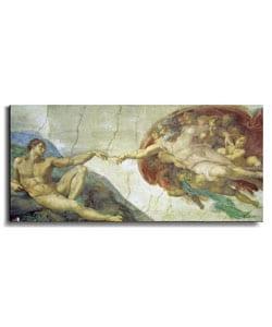 Creation of Adam by Michelangelo Canvas Art