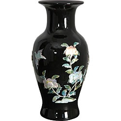 Black Fishtail Porcelain Vase (China)
