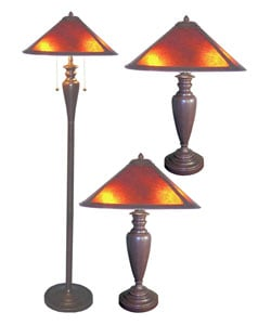 Set of Three Americana Mica Lamps