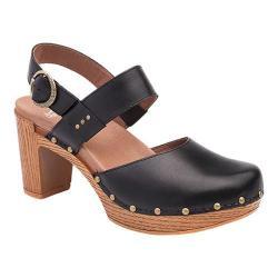 Women's Dansko Dotty Heeled Sandal Black Full Grain Leather 23282791