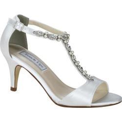 Women's Touch Ups Donna T Strap Sandal White Satin 23440210