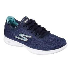 Women's Skechers GO STEP Lite Agile Walking Sneaker Navy/Light Blue 23491116