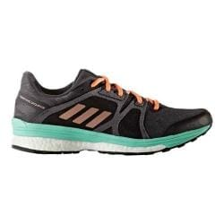Women's adidas Supernova Sequence 9 Running Shoe Utility Black/Tech Rust Metallic/Easy Green 23564421