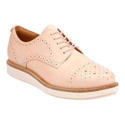 Women's Clarks Glick Shine Oxford Nude Cow Full Grain Leather 23641131