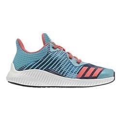 Girls' adidas Fortarun K Printed Running Shoe Energy Blue/Easy Coral/FTWR White 23853359