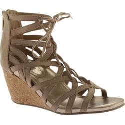 Women's Kenneth Cole Reaction Cake Pop Wedge Sandal Almond Microsuede 23895407