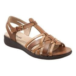 Women's SoftWalk Taft T Strap Sandal Natural/Tan Soft Leather 23979486