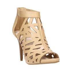 Women's Fergalicious Huddle Caged Sandal Nude Synthetic Leather 24140762