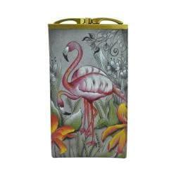 Women's Anuschka Double Eyeglass Case Flamboyant Flamingos 24408748