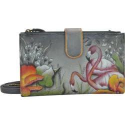 Women's Anuschka Large Smart Phone Case & Wallet Flamboyant Flamingos 24408772