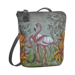 Women's Anuschka Two-Sided Zip Travel Organizer Flamboyant Flamingos 24408787