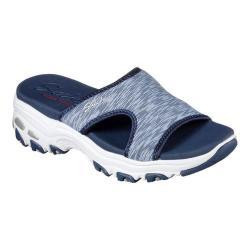 Women's Skechers D'Lites Cool Footings Slide Sandal Blue 24735605