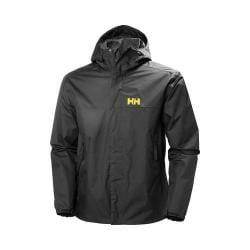 Men's Helly Hansen Ervik Rain Jacket Ebony 25052051