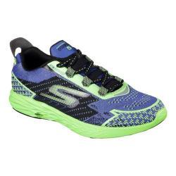 Men's Skechers GOrun 5 Nite Owl Running Shoe Blue/Green 25112173