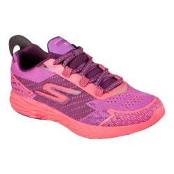 Women's Skechers GOrun 5 Nite Owl Running Shoe Purple/Hot Pink 25112187
