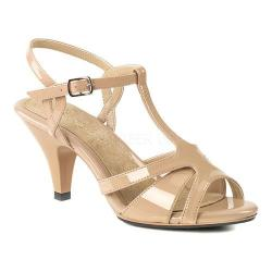 Women's Fabulicious Belle 322 T-Strap Sandal Nude Patent/Nude 25007883