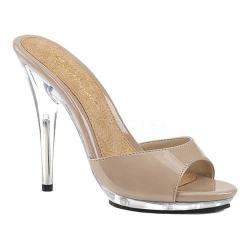Women's Fabulicious Poise 501 Slide Nude Patent/Clear 25299707