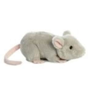 """8"""" Grey and Pink Mini Flopsie Toy Mouse Plush Toy - Silver 30147871"""