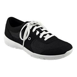 Women's Easy Spirit Gogo Sneaker Black/Black Fabric 26352974