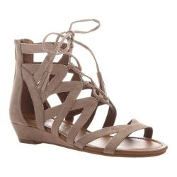 Women's Madeline Saturate Gladiator Sandal Mid Taupe Textile 26816062